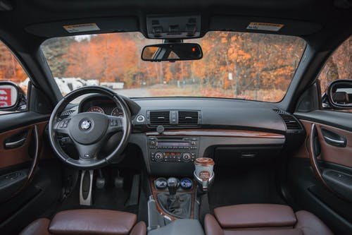 Black Vehicle Interior