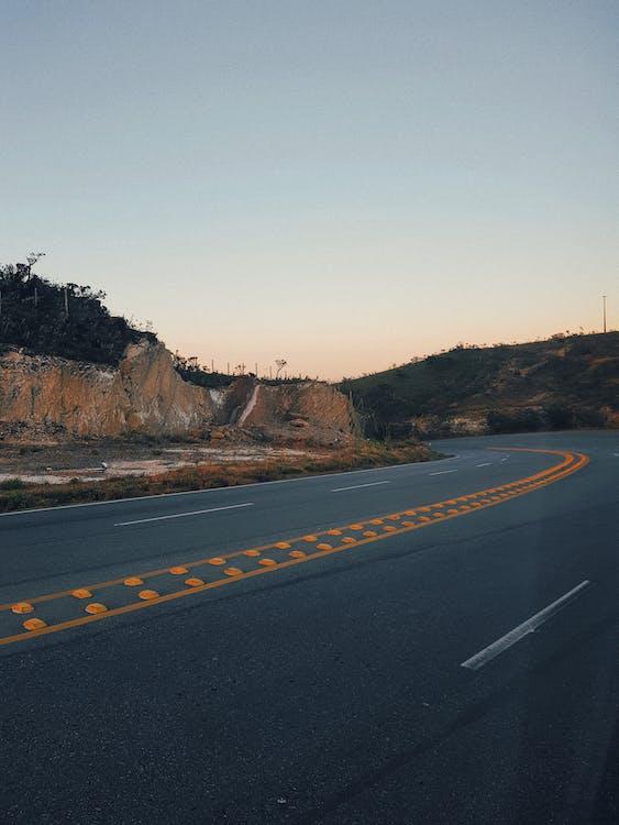 고속도로, 곡선, 도로