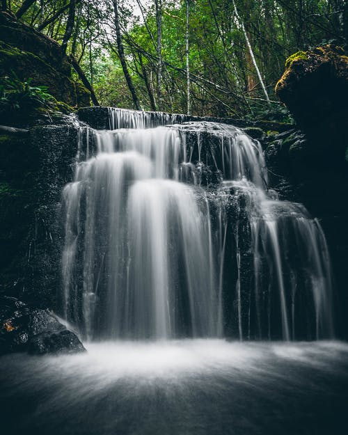 Long Exposure Shot of a Cascade