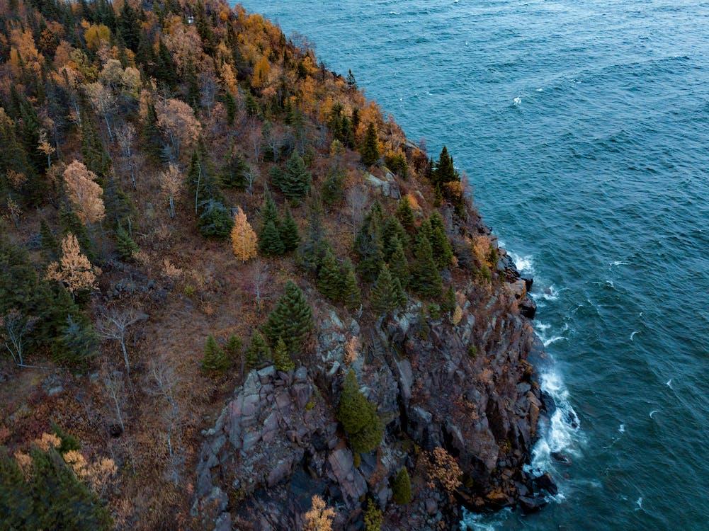 cliff, coast, Lake Superior