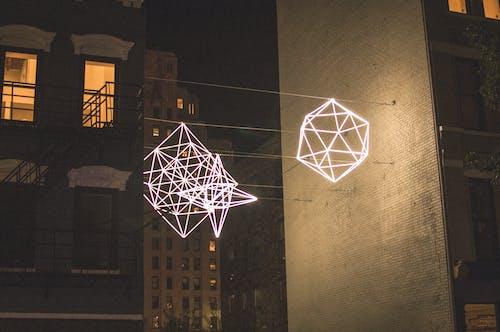 シティ, ネオンライト, 抽象芸術, 街の明かりの無料の写真素材