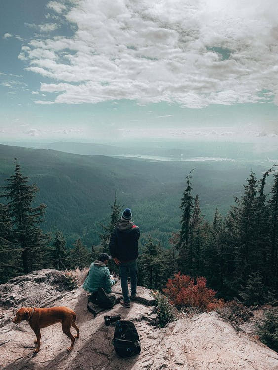 Two People On Mountain Top