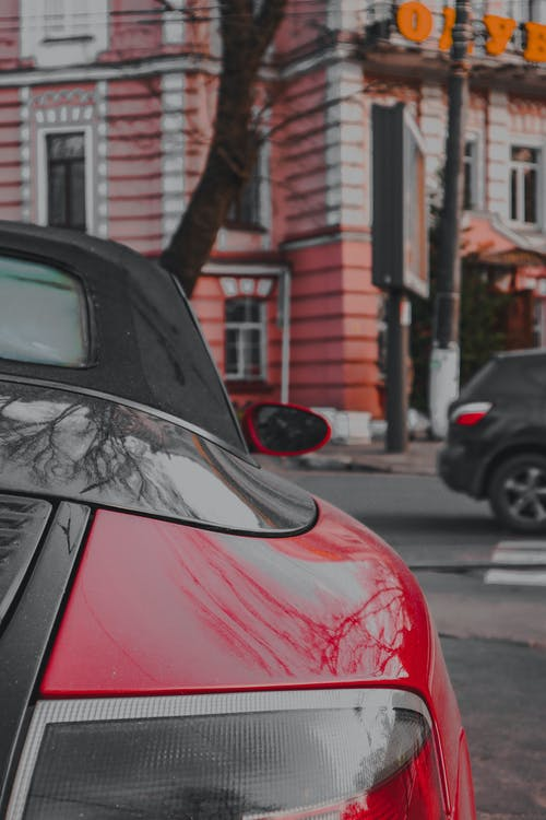 Free stock photo of porsche, red car