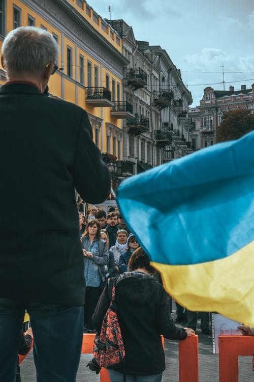 Free stock photo of rally, ukraine, ukrainian flag
