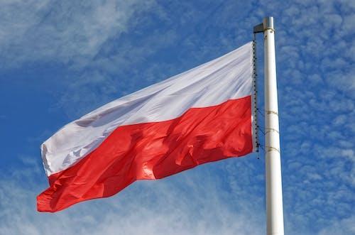 Foto profissional grátis de acenando, bandeira, céu, nacional