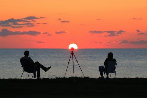 Free stock photo of 4k, 4k wallpaper, Beautiful sunset, golden sun