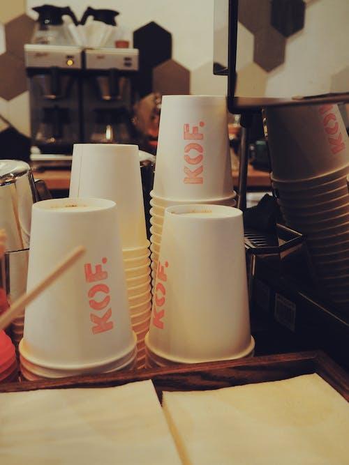 咖啡, 杯子, 條, 酒吧咖啡廳 的 免費圖庫相片