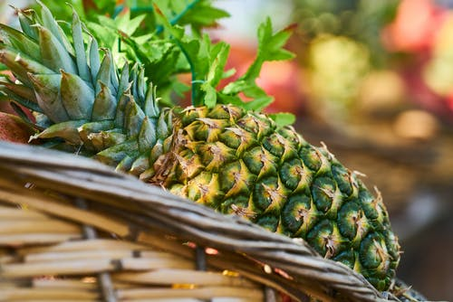 Close-Up Photo Of Pineapple