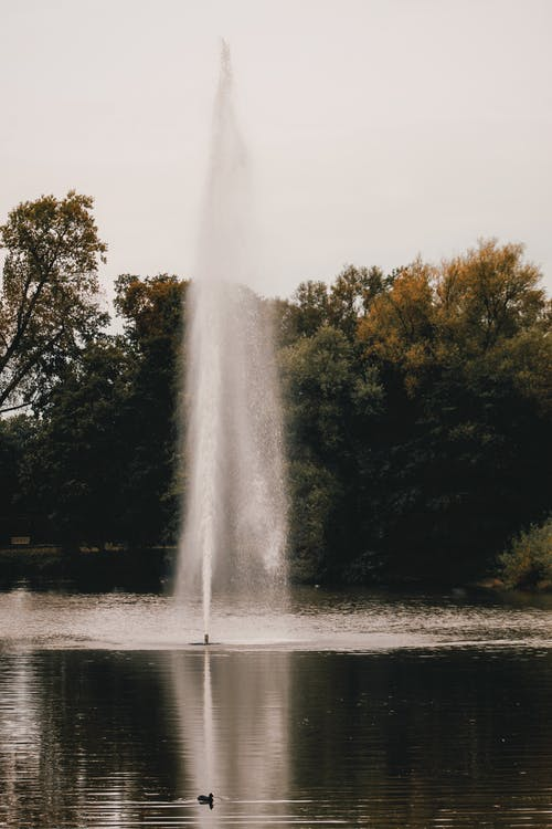 A Fountain On A Lake