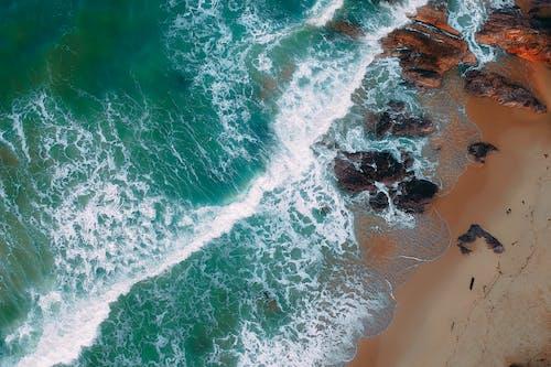 Bird's Eye View Of Shore During Daytime