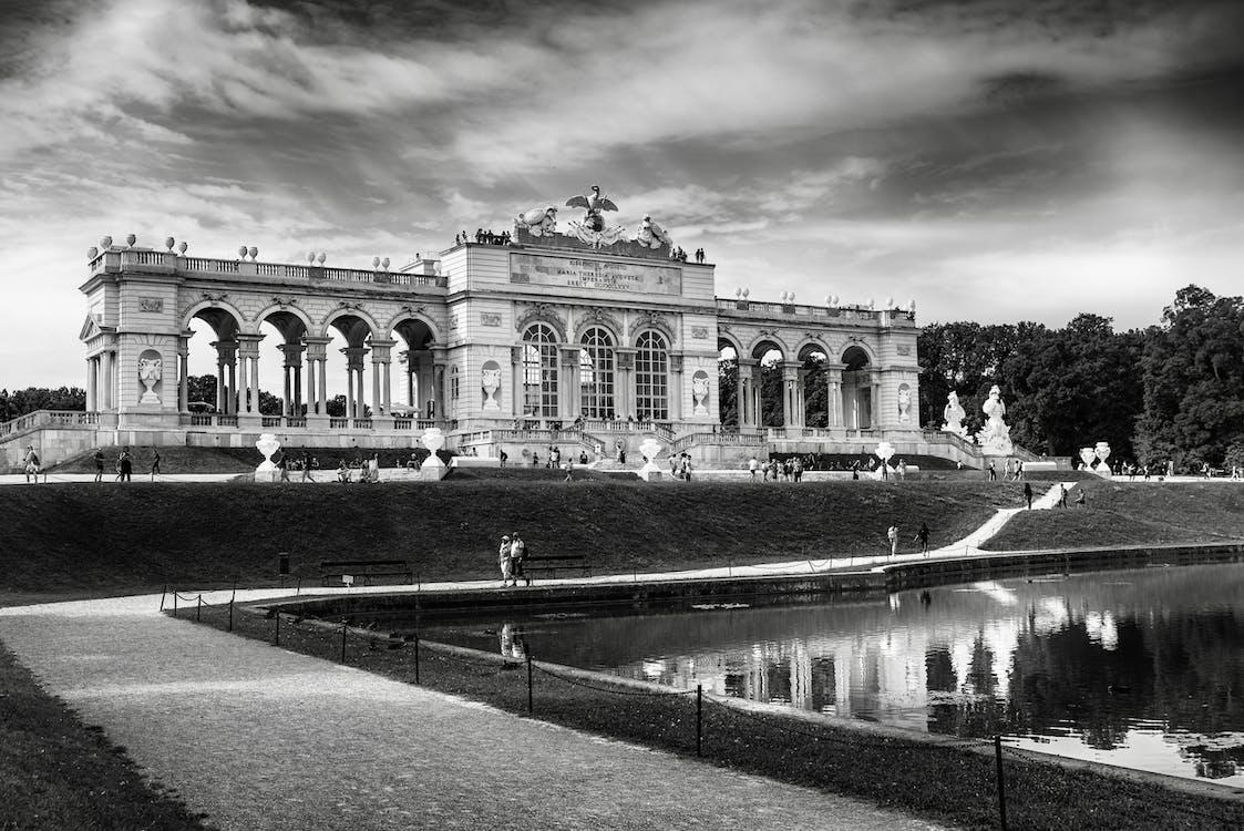 Greyscale Photography Of Schönbrunn Palace