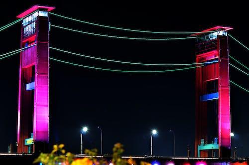 jembatan ampera palembang wong kito içeren Ücretsiz stok fotoğraf