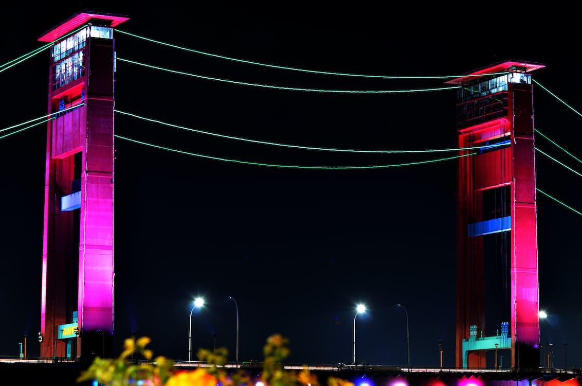 Kostnadsfri bild av jembatan ampera palembang wong kito