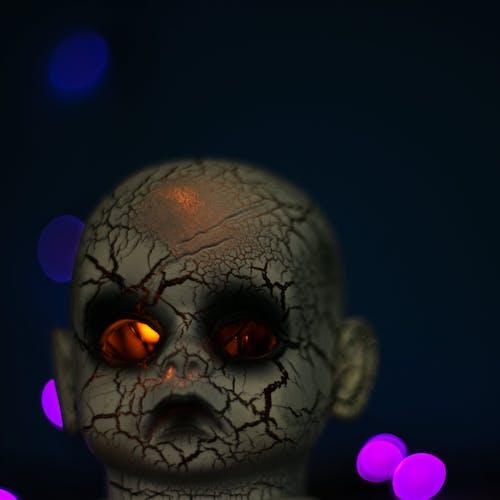 Free stock photo of baby, doll, Doll head, halloween