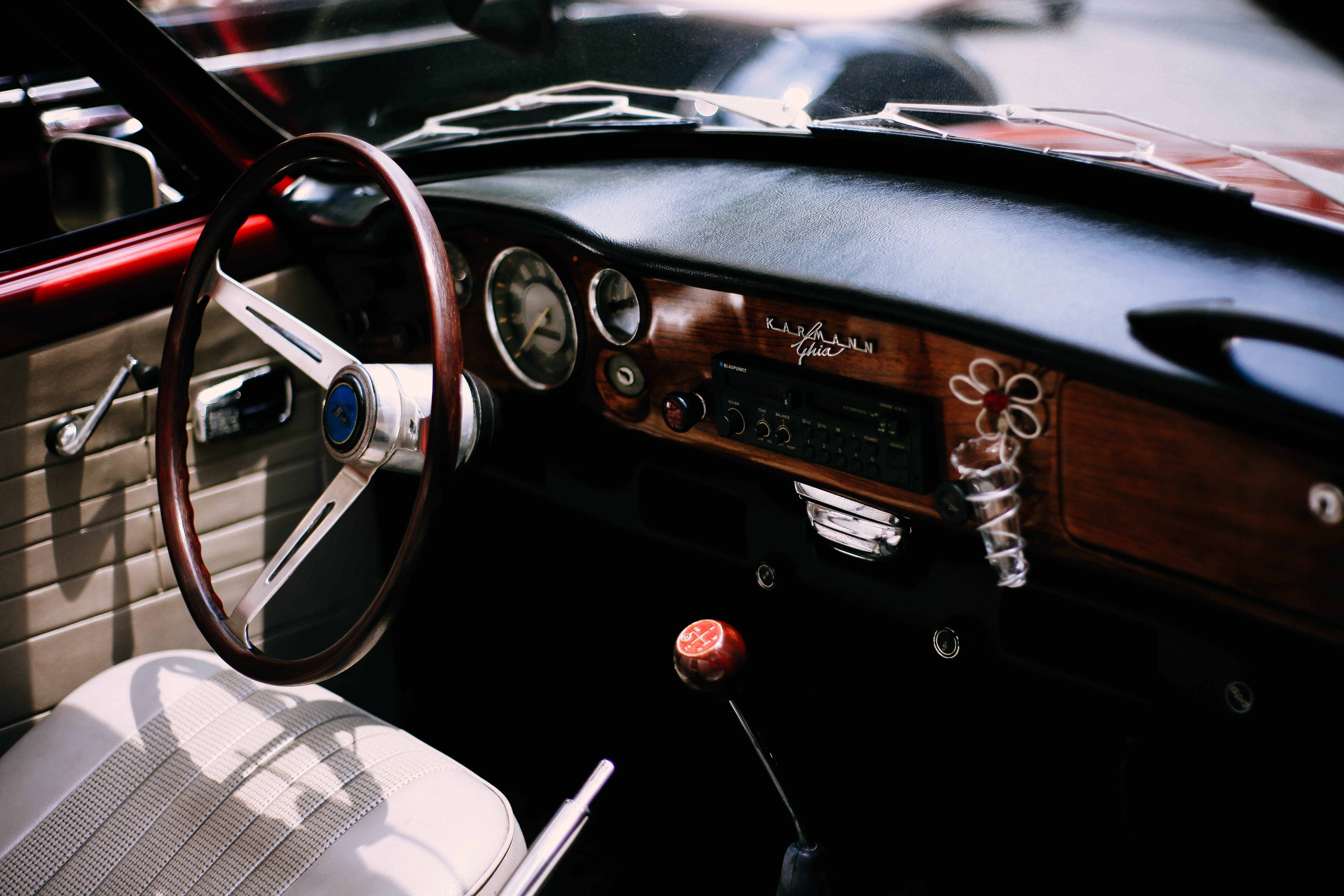 Black And Brown Car Interior Free Stock Photo