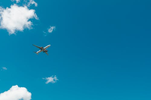 Free stock photo of airplane, blue sky, cargo plane, clouds