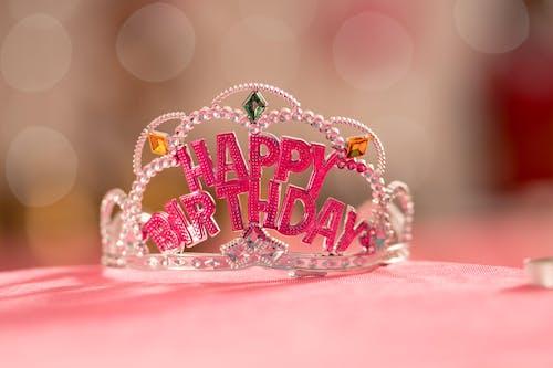 Photos gratuites de bon anniversaire, couronne, rose