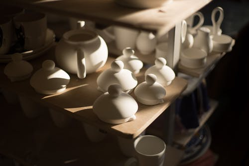 Photo Of White Ceramic Tea Pot