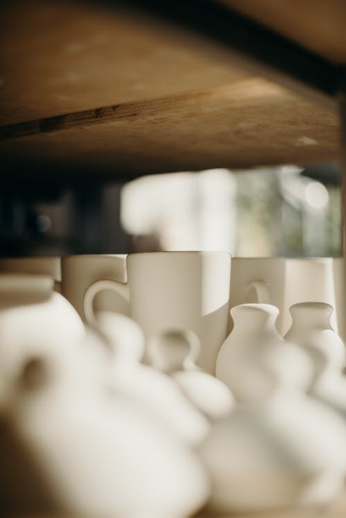 Selective Focus Photo Of Mugs