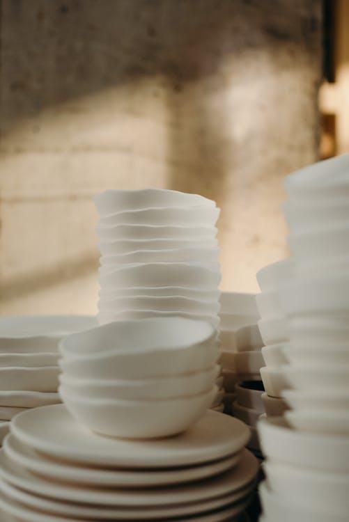 Photo Of White Ceramic Bowls