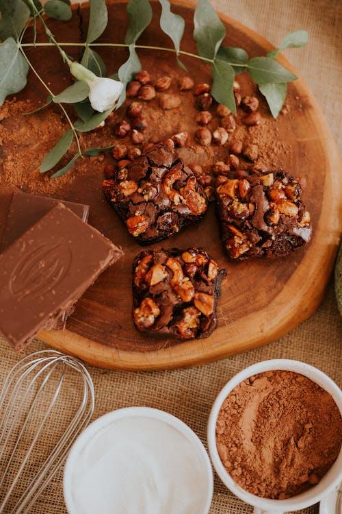 aliments, barre de chocolat, bon