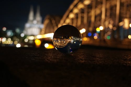 Free stock photo of cologne, cologne cathedral, glass ball, night