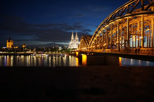 Free stock photo of cologne, cologne cathedral, historic center, night