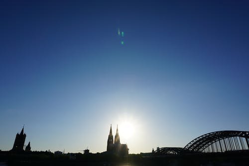 Free stock photo of blue sky, cologne, cologne cathedral, skyline