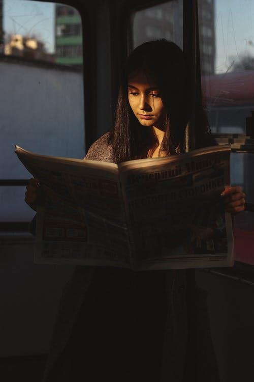 Gratis lagerfoto af avis, holde, holden