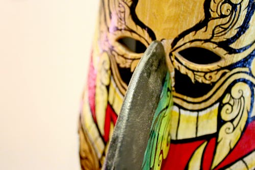 Multicolored Wooden Mask