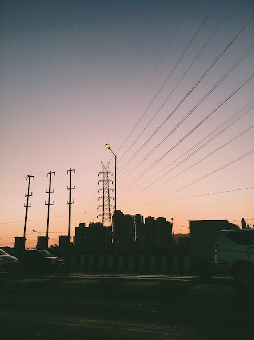 Fotos de stock gratuitas de amanecer, anochecer, contaminación, electricidad