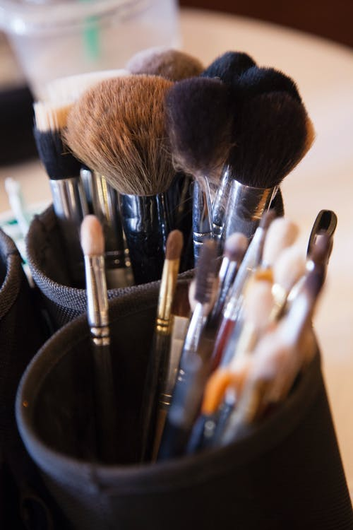 Free stock photo of brushes, make-up brushes