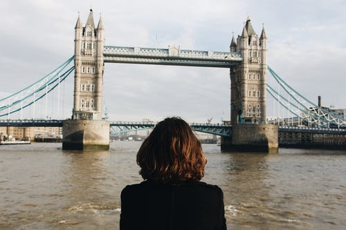 Photo of Person Across the London Bridge