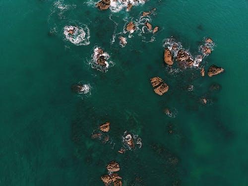 Бесплатное стоковое фото с Аэрофотосъемка, вид сверху, вода, море