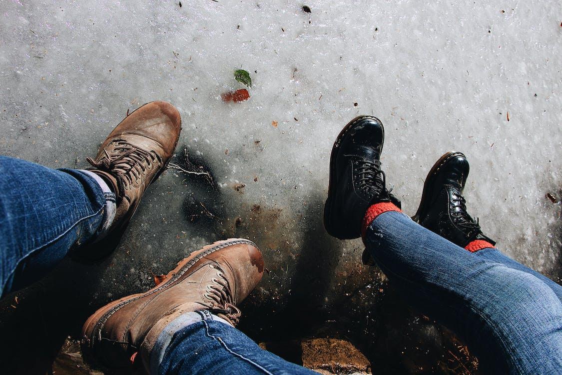 가죽 부츠, 가죽 신발, 스니커즈