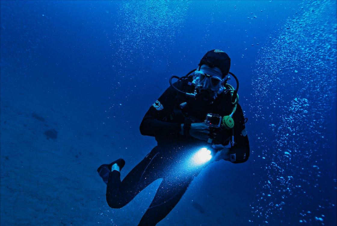 aventura, embaixo da água, exploração