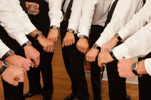 Free stock photo of grooms men, men's watches, watches