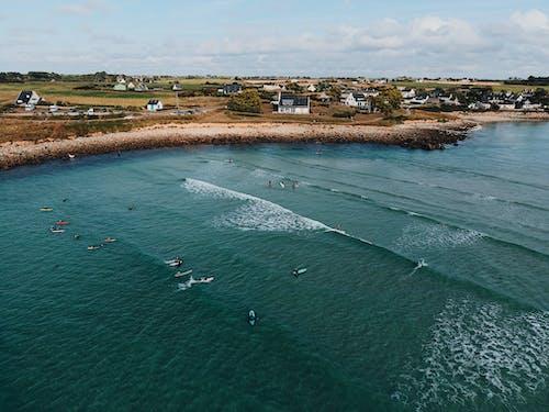 Foto profissional grátis de aerofotografia, água, beira-mar, fotografia aérea
