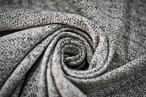 Grey and Black Textile