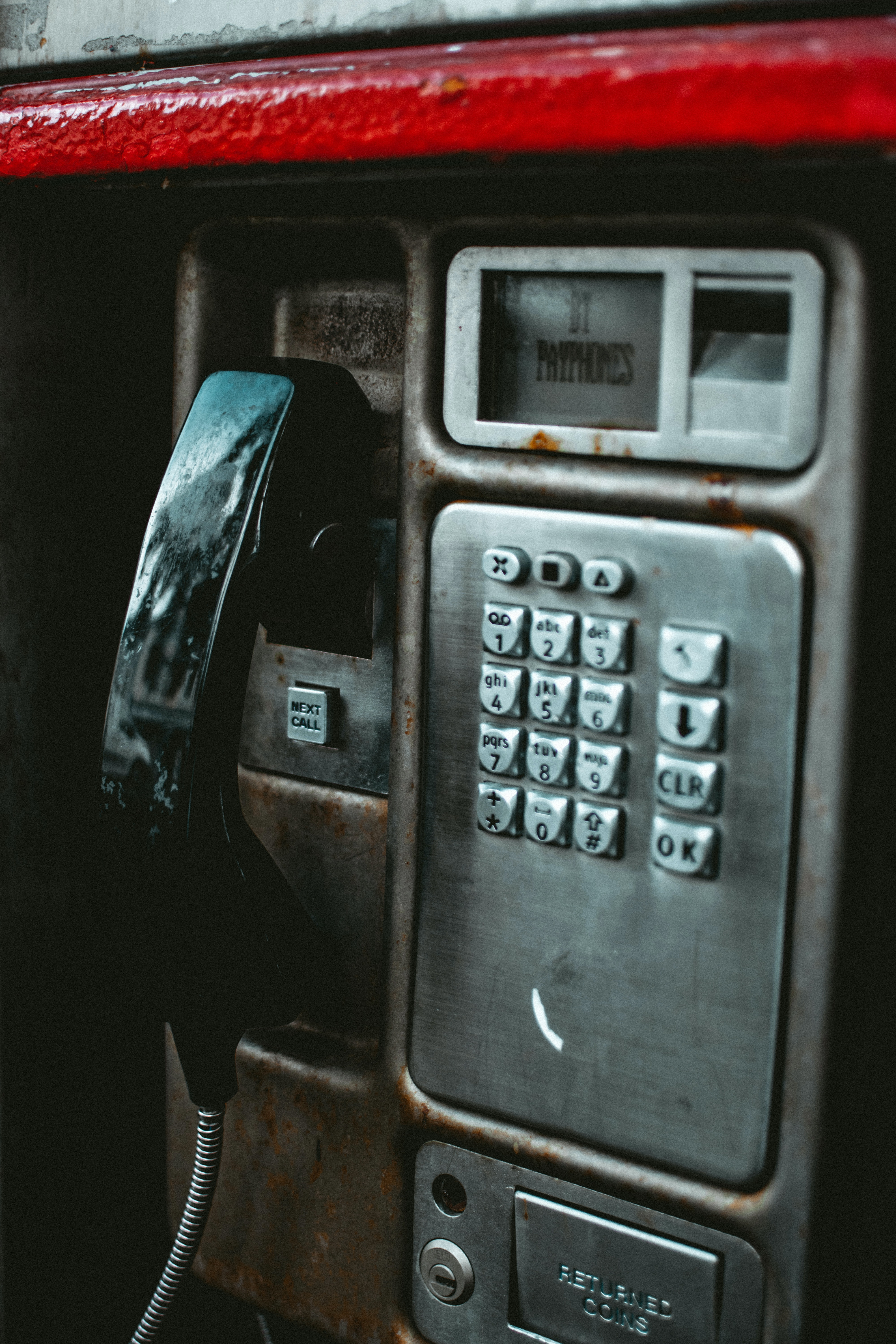 Close-Up Photo of Payphone · Free Stock Photo