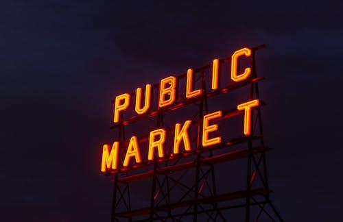 Public Market Neon Sign