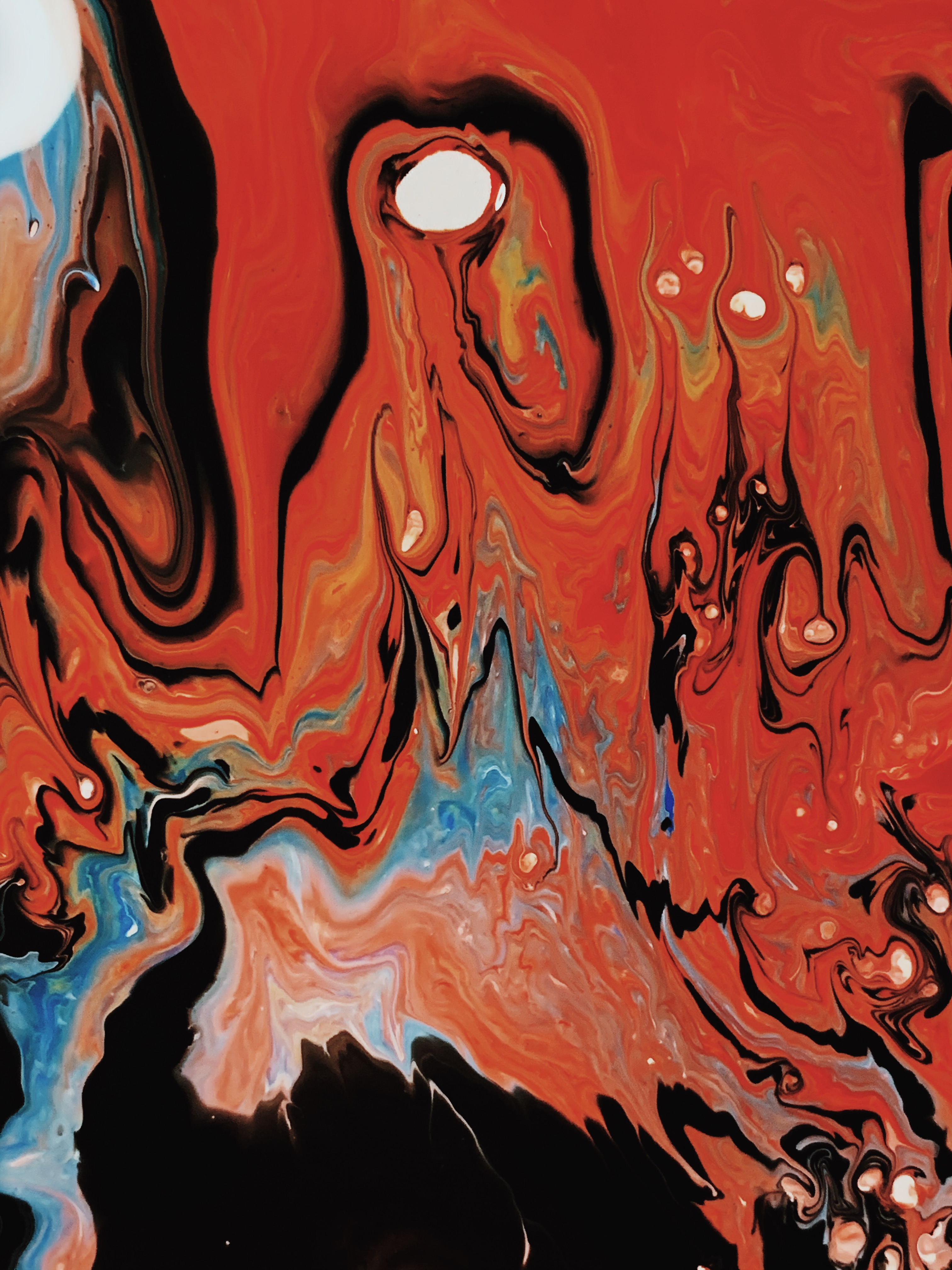 Photo of Red Abstract Painting
