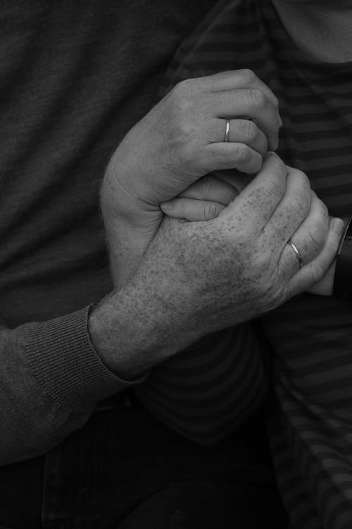 Free stock photo of black and white, family, hands, love story