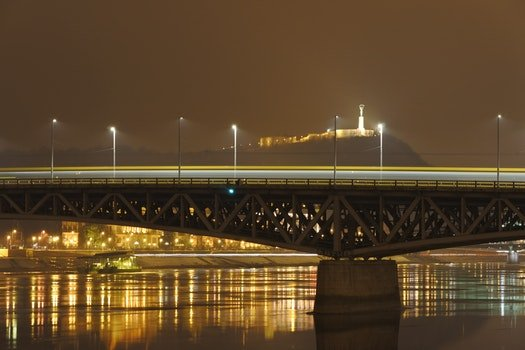Free stock photo of city, dawn, lights, night