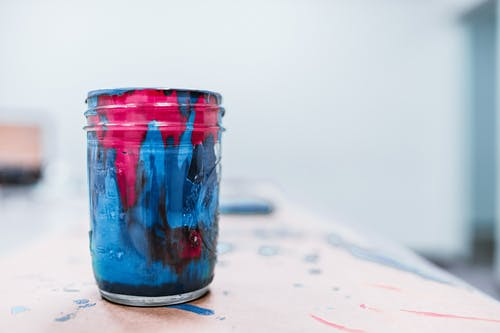 Close-Up Photo Of Paint On Cup