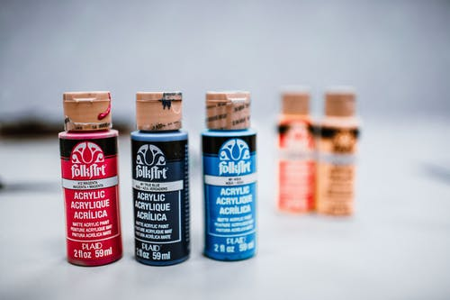 Безкоштовне стокове фото на тему «акрилова фарба, макрофотографія, пляшки, фарба»
