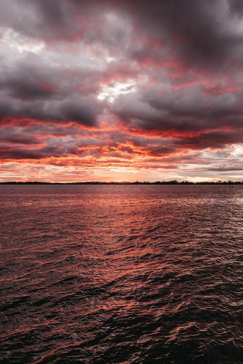 Základová fotografie zdarma na téma čeření, červánky, dramatická obloha, dramatický