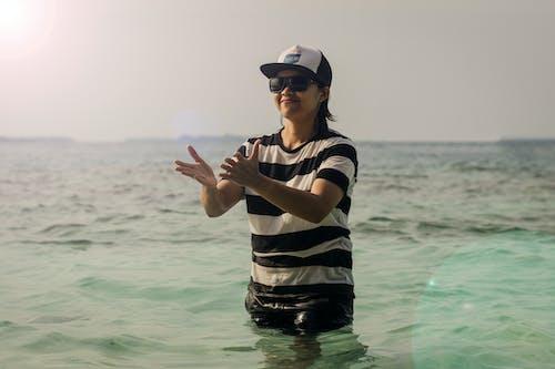 Free stock photo of beach, girl, island