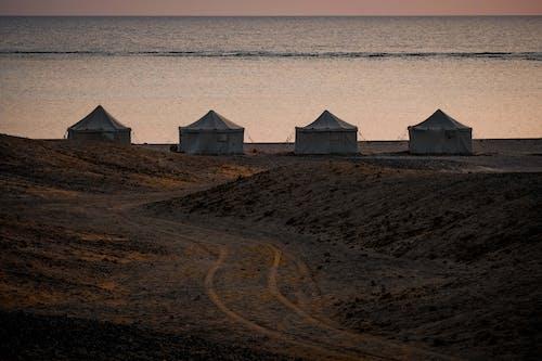 Gratis arkivbilde med daggry ved teltleiren i marsa shagra, rødehavet egypt