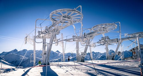 Free stock photo of alpine, blue skies, chairlift, france